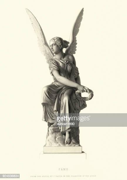 名声、c ラウフ後像の天使 - 像点のイラスト素材/クリップアート素材/マンガ素材/アイコン素材