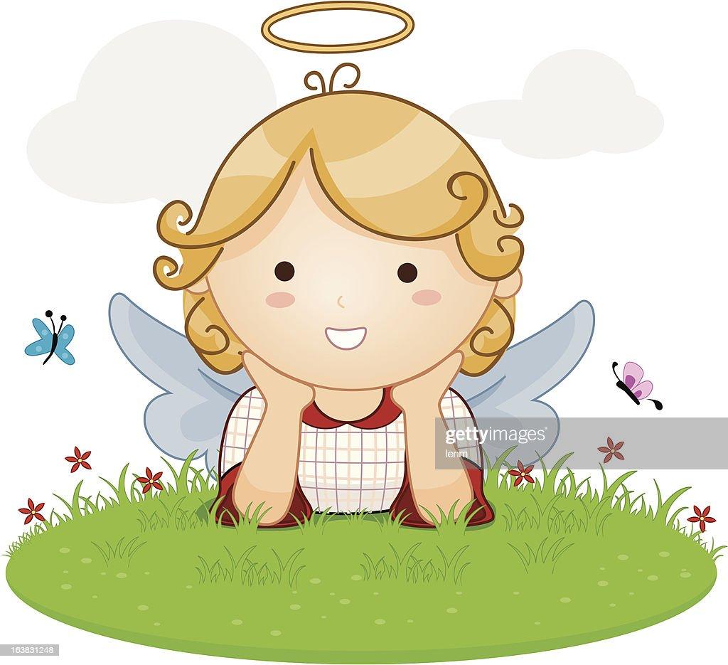 Angel On Grass