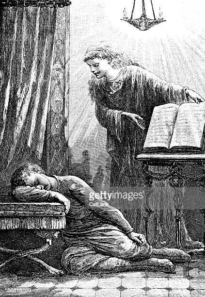 Angelic Visitor - Victorian Illustration