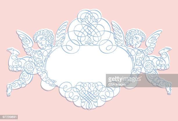 angels - cherub stock illustrations