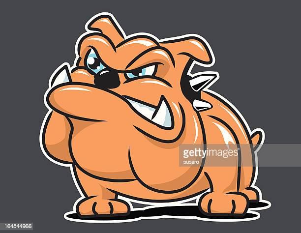 angry bulldog - cartoon characters with big teeth stock illustrations