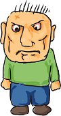 Angry cartoon man