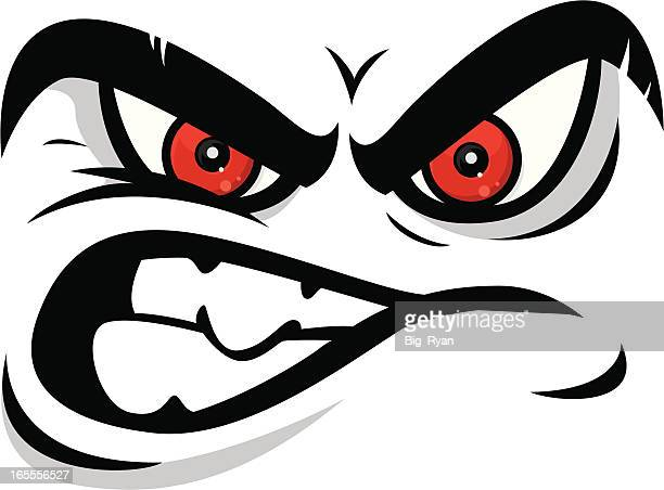 angry face - anger stock illustrations
