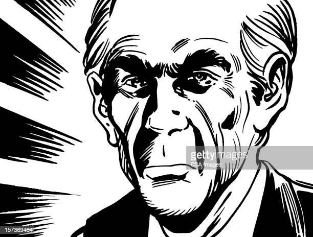 Angry Old Bald Man