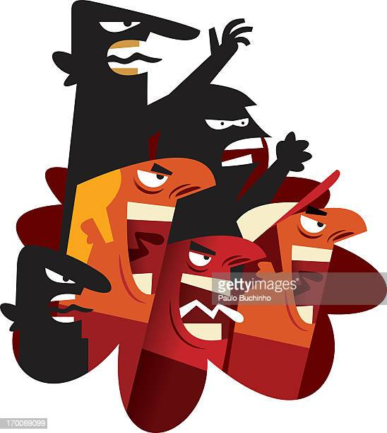 angry people shouting - sneering stock illustrations, clip art, cartoons, & icons