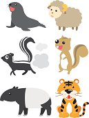 Animal Cartoon Mammal Set 7