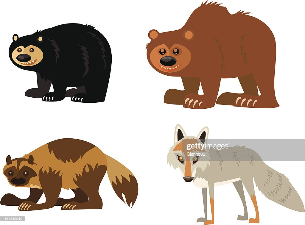 Animal Page: black bear, grizzly, wolverine, coyote