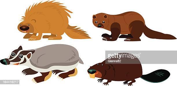 動物のページ - ヤマアラシ点のイラスト素材/クリップアート素材/マンガ素材/アイコン素材