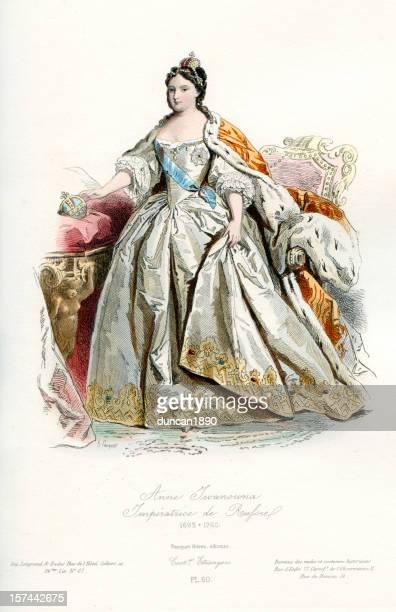 ilustrações, clipart, desenhos animados e ícones de anne imperatriz da rússia - cultura russa