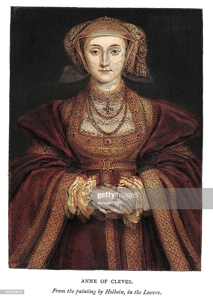 Anne of Cleves : stock illustration