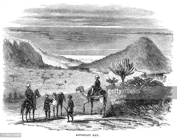 Annesley bay n Abyssinia engraving 1868