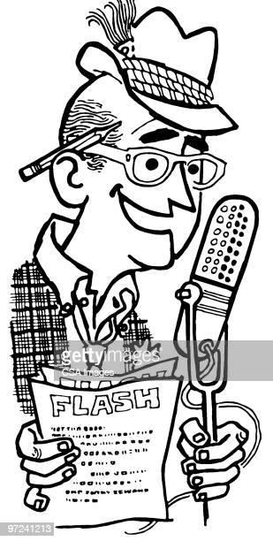 announcer - report stock illustrations