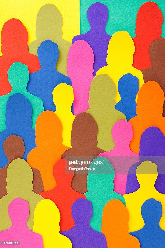 Anonymous crowd : Stock Illustration