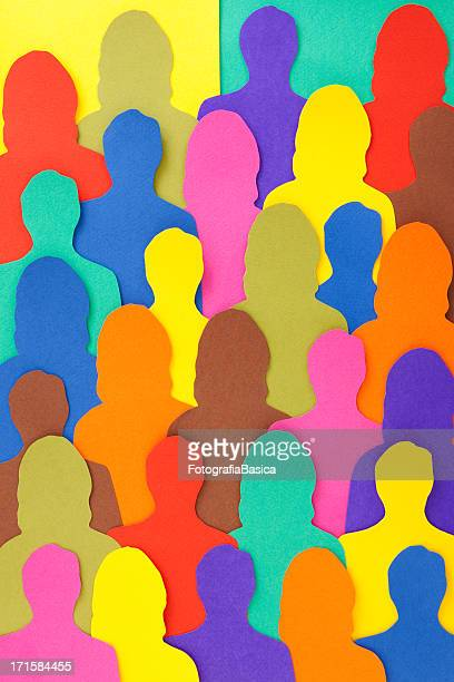 anonymous crowd - variation stock illustrations