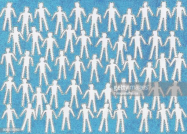ilustraciones, imágenes clip art, dibujos animados e iconos de stock de anonymous crowd blanco - puppet