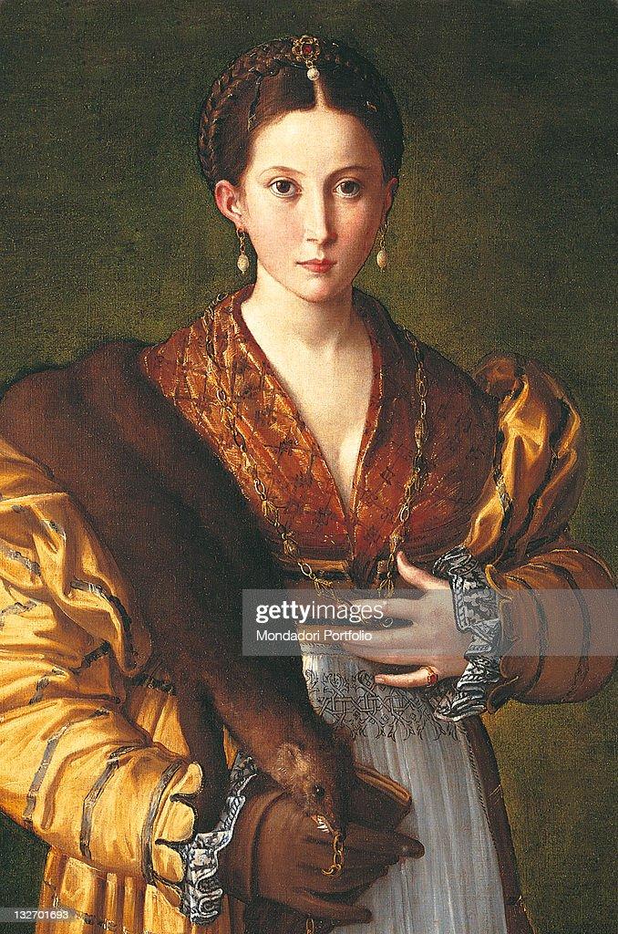 Anteas Portrait (Portrait Of Young Woman), By Francesco Mazzola Known As  Parmigianino,