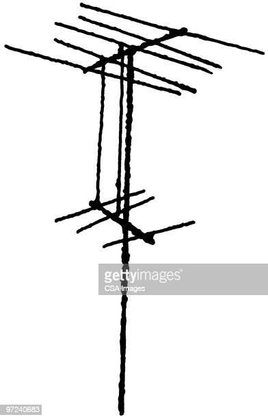 antenna - antenna aerial stock illustrations, clip art, cartoons, & icons