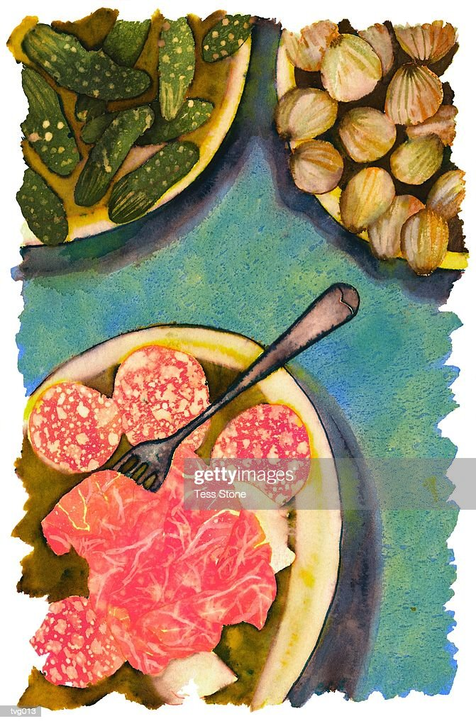Antipasti : Stockillustraties