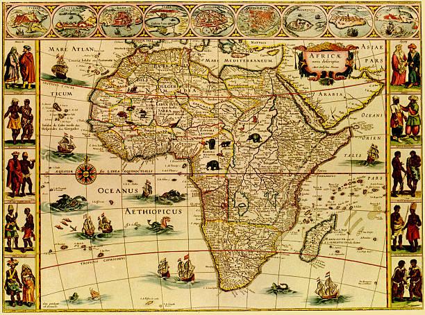 Antique Africa Map Wall Art