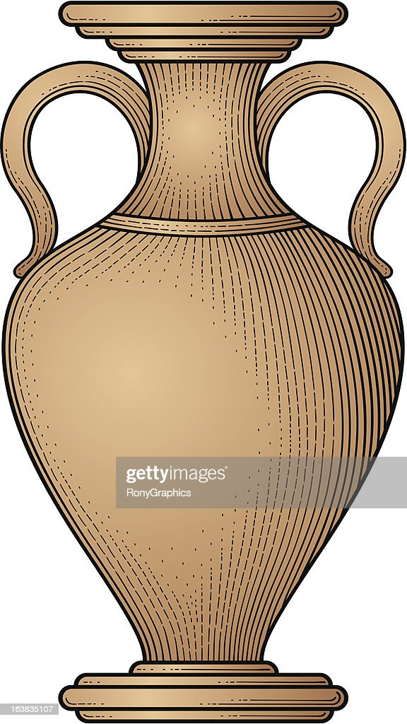 Antique amphora vector