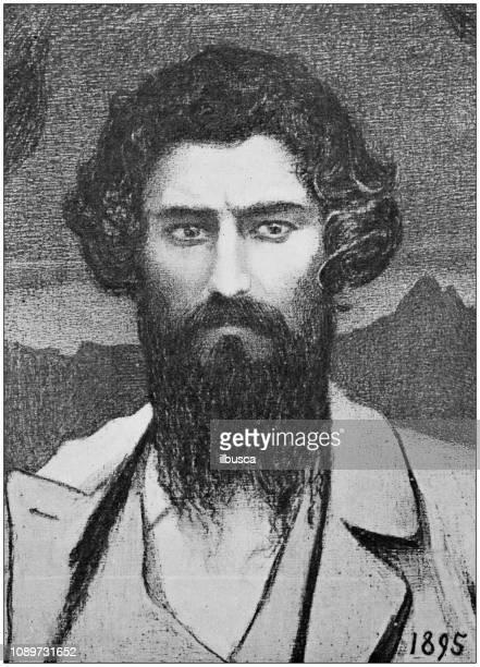 Antique art painting illustration: Giovanni Segantini