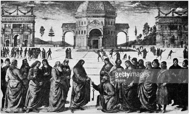 Antique art painting illustration: Pietro Perugino - Keys