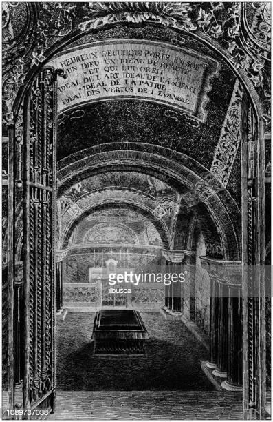 Antique art painting illustration: Tomb of Pasteur