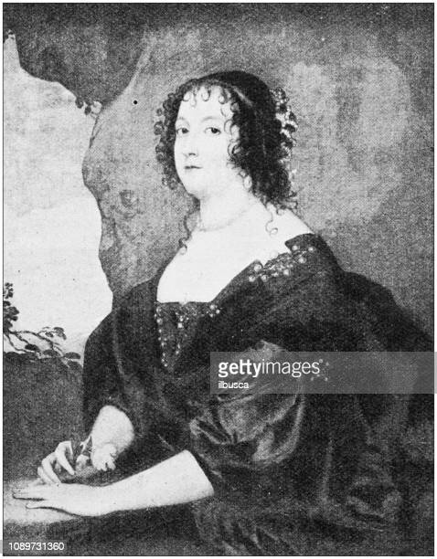 Antique art painting illustration: Van Dyck - Countess of Oxford