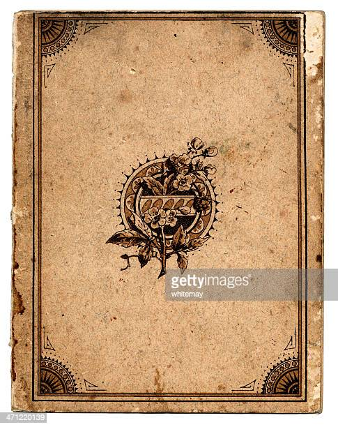 Antique book cover with frame
