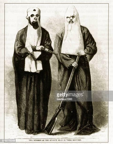 illustrations, cliparts, dessins animés et icônes de antique american début gravure illustrant les questions sociales, vers 1850 - racisme