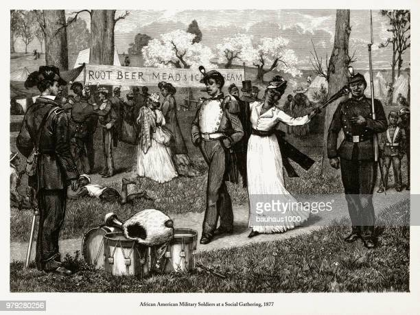 Antique Early American Engraving Depicting Social Issues, Circa 1850's