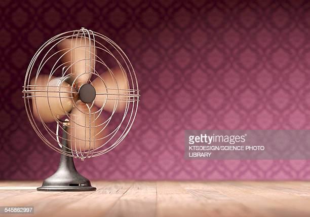 Antique electric fan, illustration