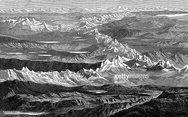 Antique engraved image of Andes