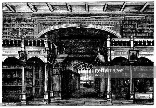 Antique engraving illustration: Bodleian Library