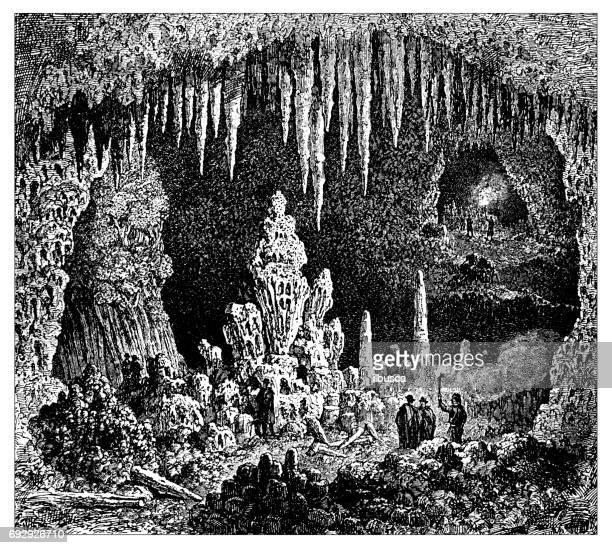 Illustrations et dessins anim s de grotte getty images - Coloriage grotte ...