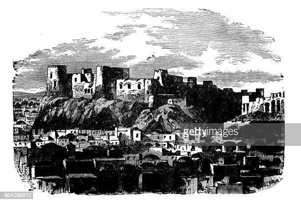 Antique engraving illustration: Citadel, Herat
