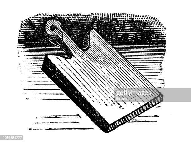 Antique engraving illustration: Cutting board
