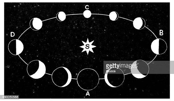 ilustraciones, imágenes clip art, dibujos animados e iconos de stock de antiguo grabado de la ilustración: rotación de la tierra - las cuatro estaciones