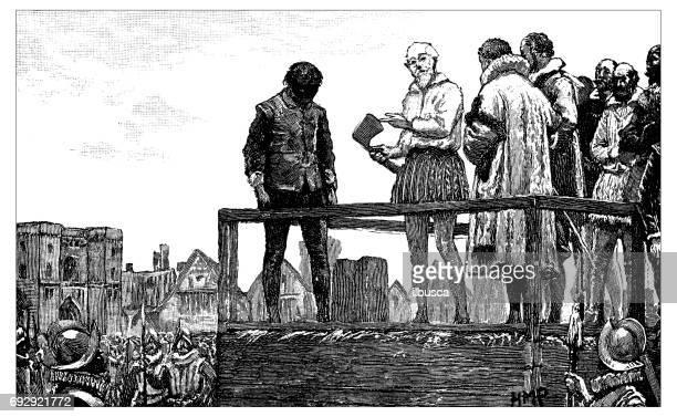 Antique engraving illustration: Execution
