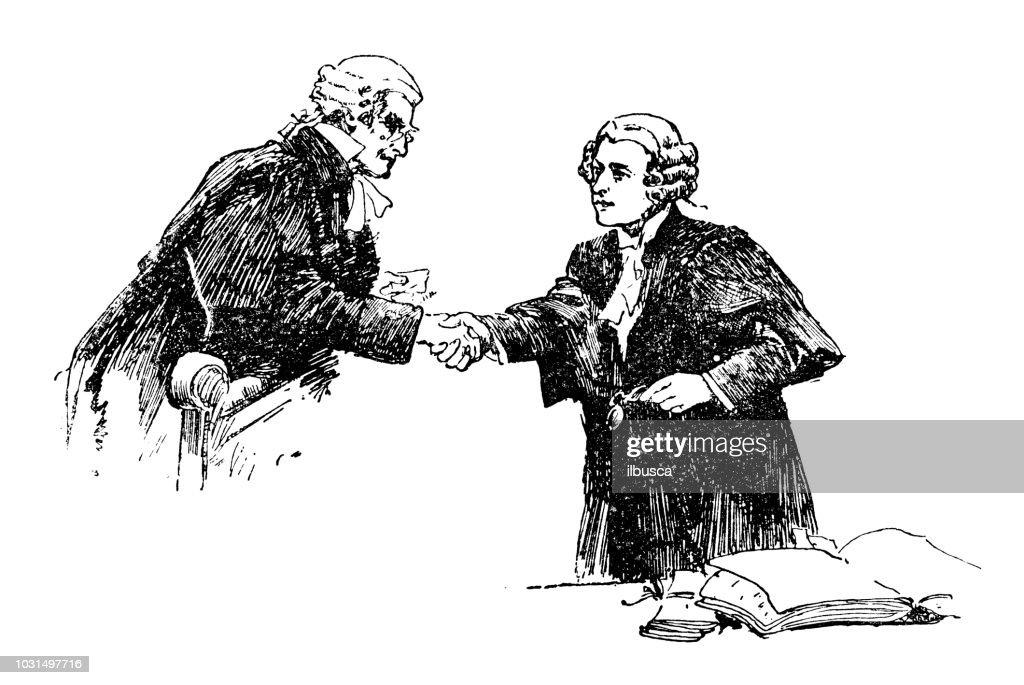 Antique engraving illustration: Judges : Stock Illustration