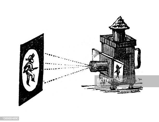 Antique engraving illustration: Magic box