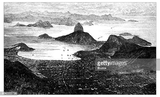 Antique engraving illustration: Rio de Janeiro