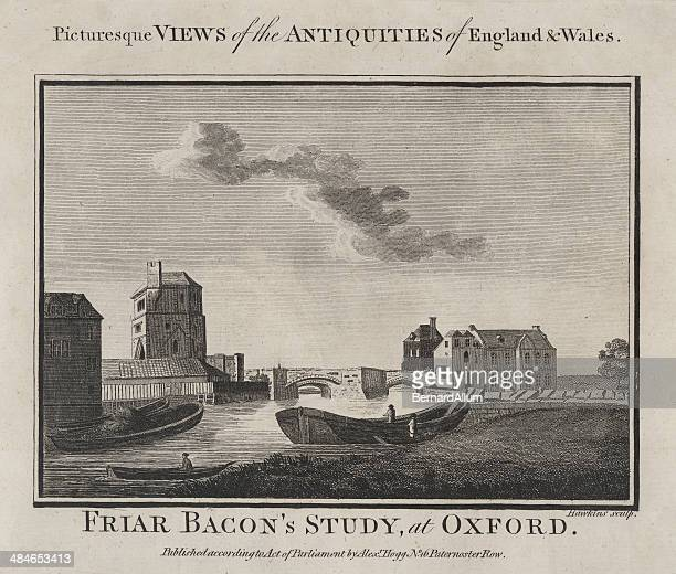 Antique Engraving of Oxford 1786