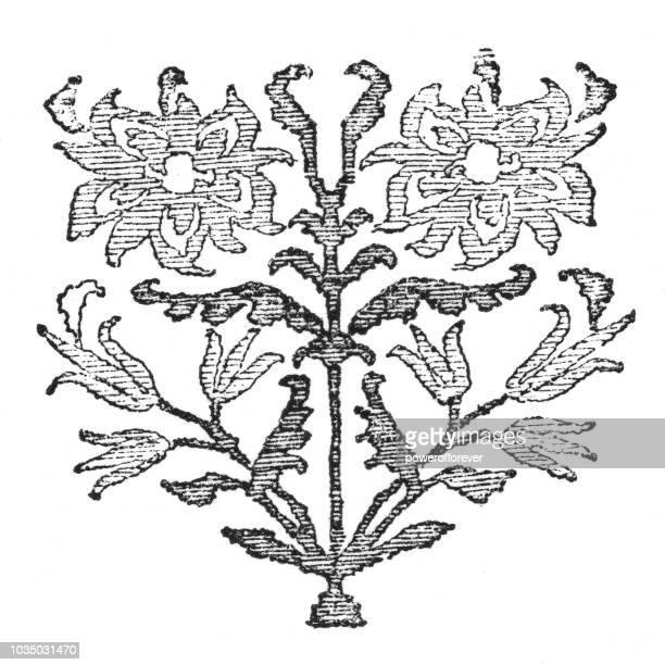 Antique Floral Decorative Ornament Design