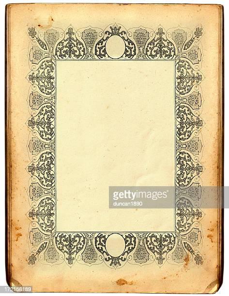 antique frame - manuscript stock illustrations
