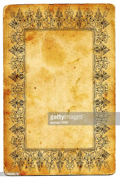 antique frame xxl - historical document stock illustrations, clip art, cartoons, & icons