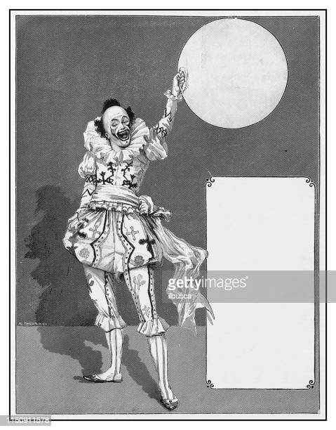 illustrations, cliparts, dessins animés et icônes de illustration antique: clown - clown