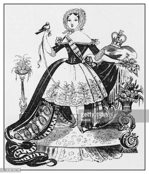 antique illustration: empress frederick - empress stock illustrations, clip art, cartoons, & icons