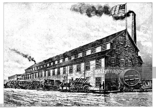 Antique illustration: Factory