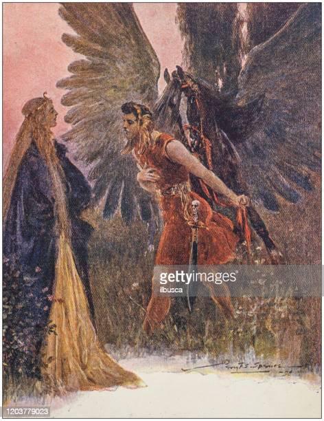 antique illustration: fantasy fable - princess stock illustrations